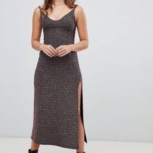 NWT Free People glitter maxi dress